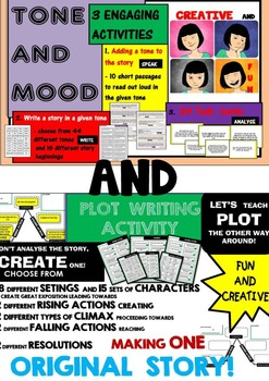 TONE AND MOOD - 3 ENGAGING ACTIVITIES + PLOT - CREATIVE WR