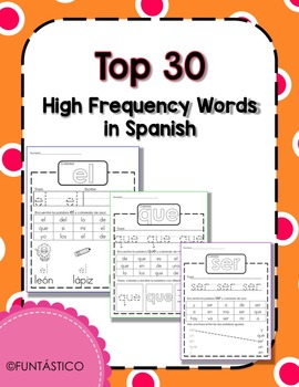 TOP 30 High Frequency Words in Spanish