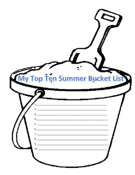 TOP TEN SUMMER BUCKET LIST