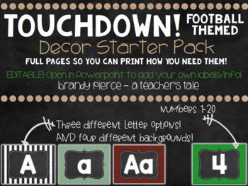 TOUCHDOWN! Football Themed Decor - GROWING bundle!