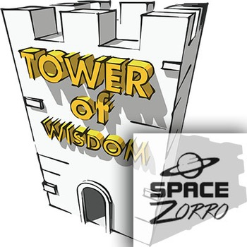 TOWER of WISDOM 3D image ( medieval )