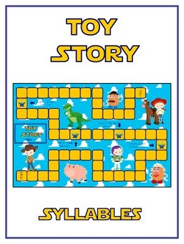 TOY STORY Syllables - ELA First Grade Folder Game - Word W