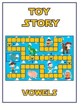 TOY STORY Vowels- ELA First Grade Folder Game - Word Work Center
