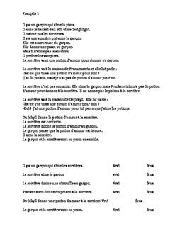 TPRS French 1 reading (207 words): Le garçon et la sorcière
