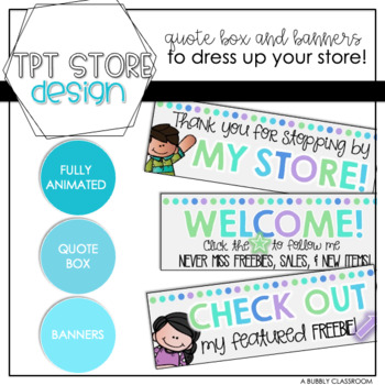 TPT Fully Animated Quote Box & Banners {Cool Colors}
