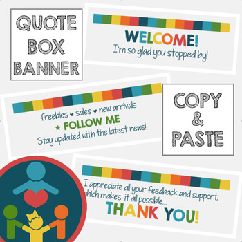 TPT Animated Quote Box : Tropical Colors