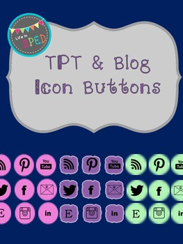 TPT & Blog Icon Buttons