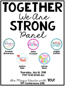 TPT Conference 2016 Together We Are Strong Panel Handout