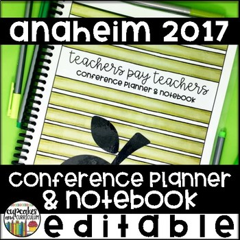 TPT Conference 2017 Planner & Notebook