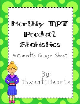TPT Digital Monthly Data Sheet {Freebie}