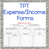 TPT Expense and Income Forms for Taxes