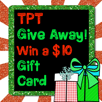 TPT Gift Card Give Away!