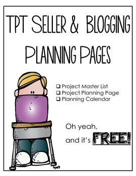TPT Seller and Blogger Mini Planner