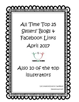 TPT Top Sellers Blogs and Facebook Links