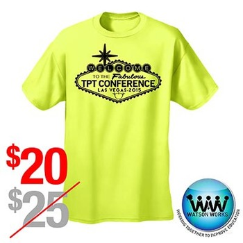 TPT Vegas Conference 2015 T-shirt Neon Yellow ~ SIZE XS