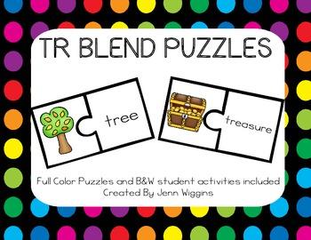 TR Blend Puzzles ~ 16 Puzzles Plus Follow Up Activities