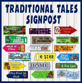 TRADITIONAL TALES SIGNPOST DISPLAY TEACHING RESOURCES- EYF