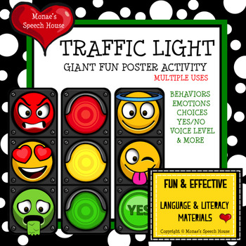 TRAFFIC LIGHT POSTER Speech Therapy PRE-K AUTISM BEHAVIORS