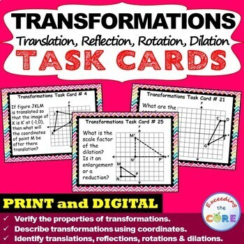 TRANSFORMATIONS Translate, Reflect, Rotate, Dilate - Task