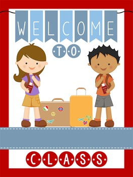 TRAVEL - Classroom Decor: WELCOME Poster - 18 x 24, you pe