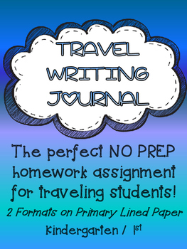 TRAVEL WRITING JOURNAL primary lined journal paper for TRA