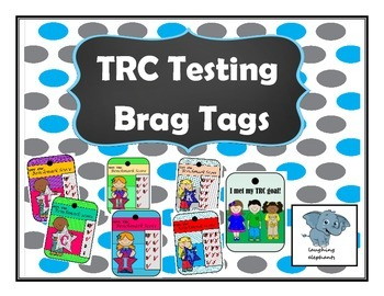 TRC Reading Level Benchmark level Brag Tags