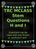 TRC questions stems Level H and I with written response