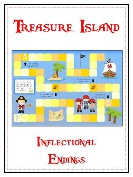 TREASURE ISLAND Inflectional Word Endings - ELA First Grad
