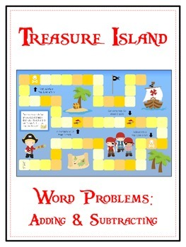 TREASURE ISLAND - Word Problems Adding & Subtracting - Mat