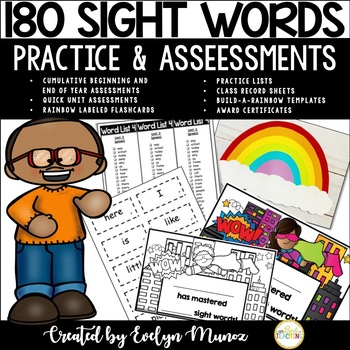 SIGHT WORDS Assessments and Practice Pack!
