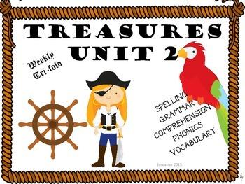 TREASURES Unit 2 Tri fold Second Grade
