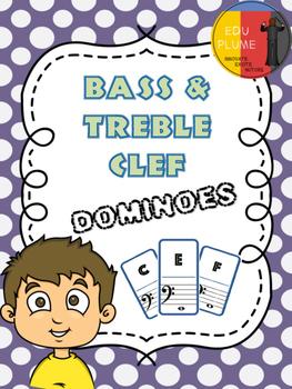 TREBLE/BASS CLEF - DOMINOES