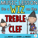 "Music Treble Clef Staff Song, Lessons,Games ""Be a Wiz on t"