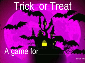 TRICK OR TREAT GAME MAKE IT YOUR OWN