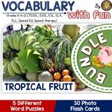 TROPICAL FRUIT (ESL): 4 VOCABULARY PUZZLES