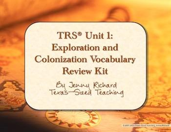 TRS®/CSCOPE® U.S. Unit 1: Exploration and Colonization Voc