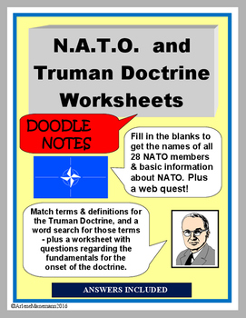 TRUMAN DOCTRINE & N.A.T.O - Doodle Notes, Activities and W