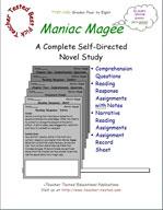 Maniac Magee Novel Study Guide