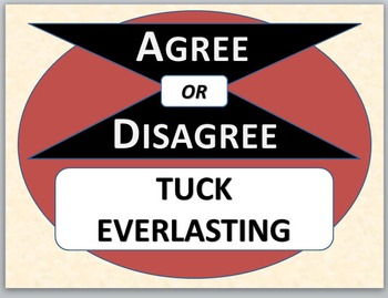 TUCK EVERLASTING - Agree or Disagree Pre-reading Activity