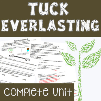 TUCK EVERLASTING Complete Unit (Figurative Language & Comm
