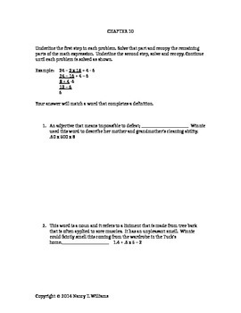 TUCk EVerlasting Math Connection / Chapter 10