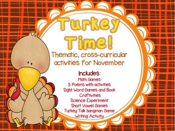 TURKEY TIME! Cross-Curricular Activities for the month of
