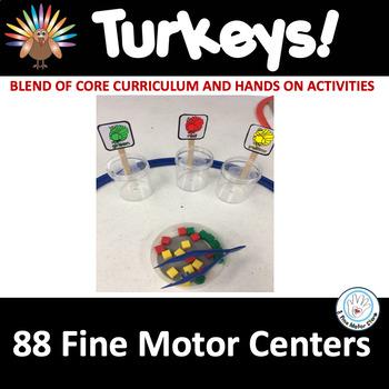 Fine Motor: TURKEYS Themed! Skills Center Time Kit for Cor