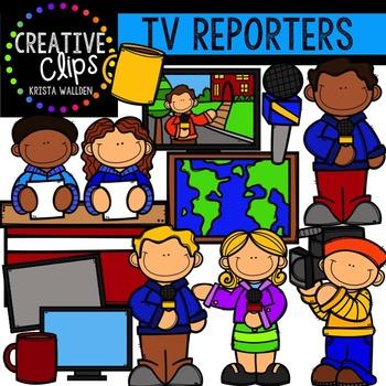 TV Reporters {Creative Clips Digital Clipart}