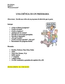 TV Show Critique Paper (Spanish)
