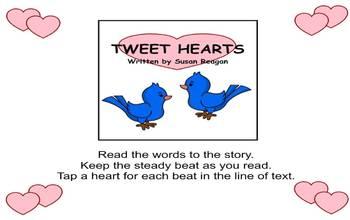 TWEET HEARTS - Valentine's Day Rhythm Activity - Worksheet