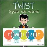TWIST Graphic Organizer English Classroom Poster