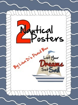 TWO Nautical Themed Posters