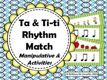 Ta & Ti-Ti Rhythm Match - Manipulative & Activities
