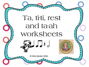 Ta ti ti rest and ta ah worksheets